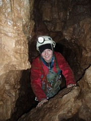 Marika at the bottom of the final (5th) pitch Image