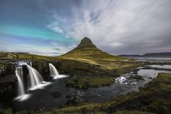 Northern Light over Kirkjufell, Iceland