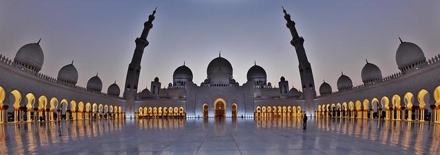 Shaikh Zayed Grand Mosque fisheye
