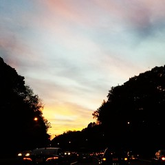 Sunset over the parkway