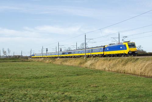 Afnamerit conventioneel NSR E186 044 bij Kampen Zuid