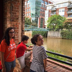 Brooke, Hannah, & Wes at the river in downtown Greenville, SC.