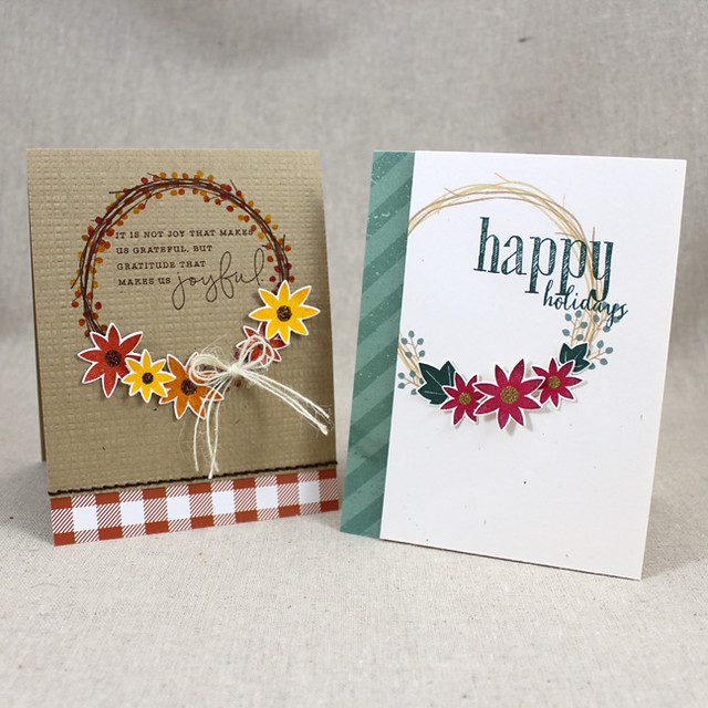 Twig Wreath Cards