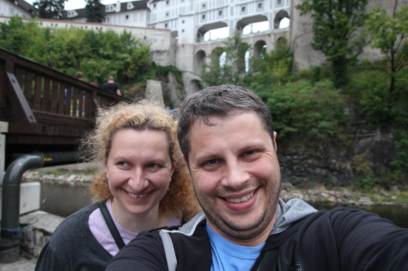 Iš Slovakijos nuvažiavome į Čekiją. Čia esame Česky Krumlov miestelyje.