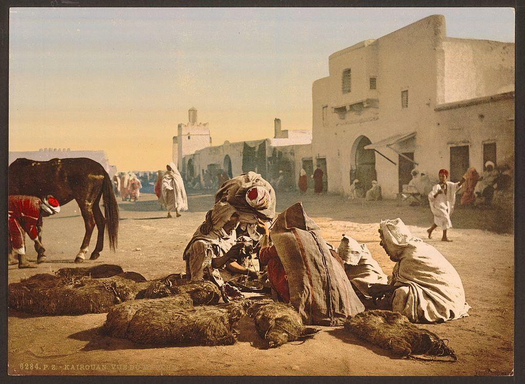 1899. Marché, de Kairouan en Tunisie