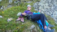 Tomasz Reinfuss - odpoczynek po zakończeniu drogi.
