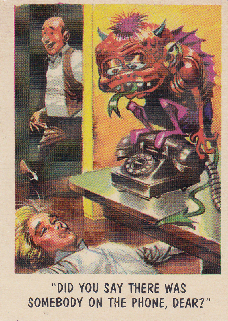 """You'll Die Laughing"" Topps trading cards 1959,  illustrated by Jack Davis (41)"