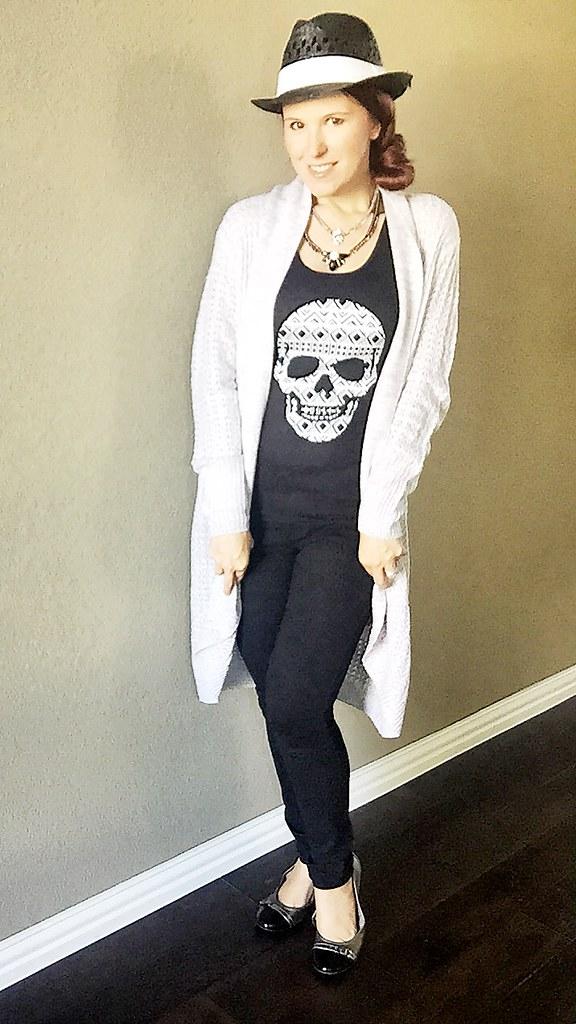 Walmart fashion, black and white hipster