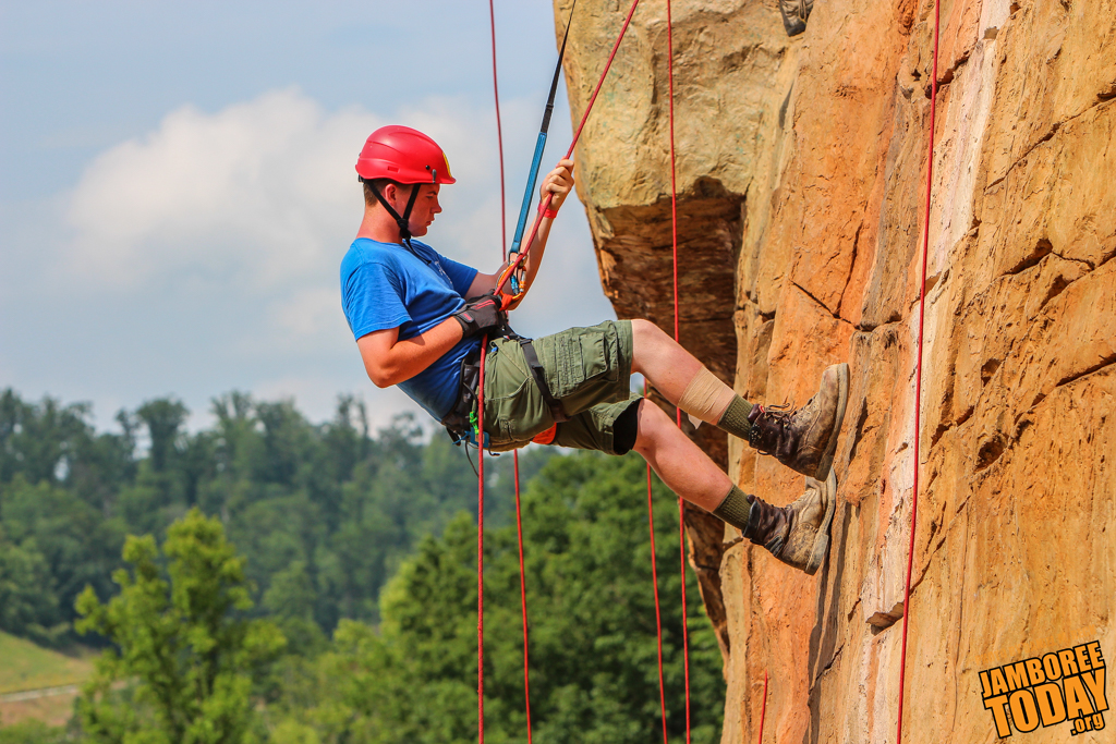 Fast Forward: Climbing and Rappelling at Boulder Cove