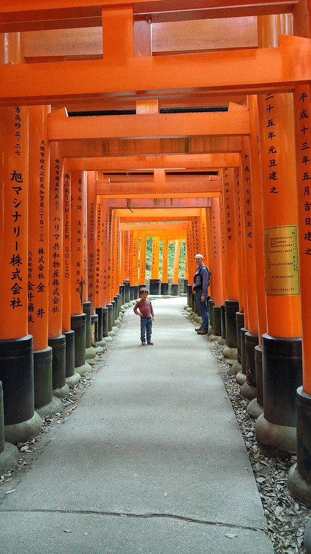 E and Scott at Fushimi-inari-taisha Shrine