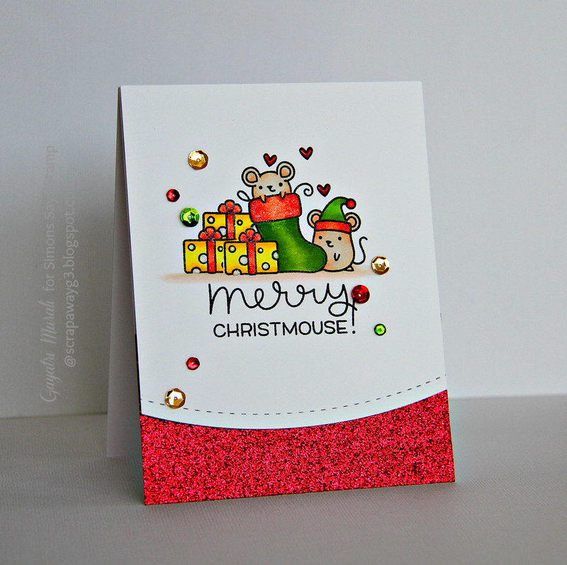 Merry Christmouse card #1