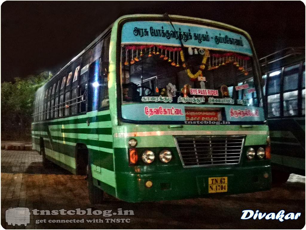 TN-63-N-1704 of Devakottai Depot Route Devakottai - Tirunelveli via Karaikudi, Pilllayarpatti, Tirupattur, Madurai