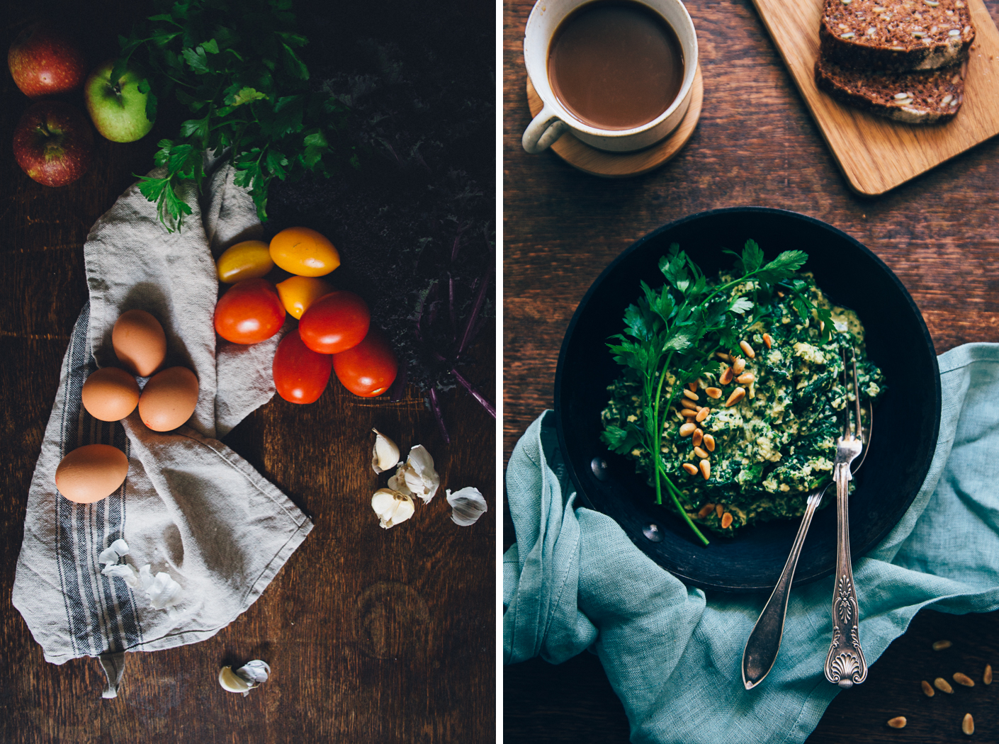 Spinach & Egg Scramble   Cashew Kitchen
