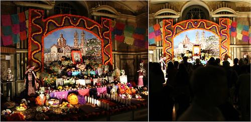 Ofrenda de muertos dedicada a William Spratling y a los artesanos de Taxco