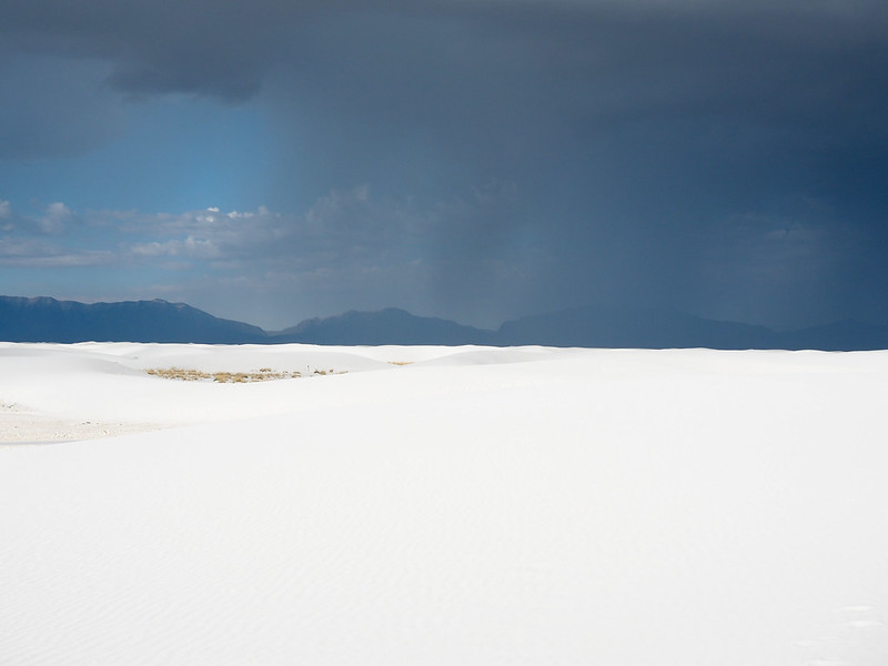 Storms clouds at White Sands National Monument