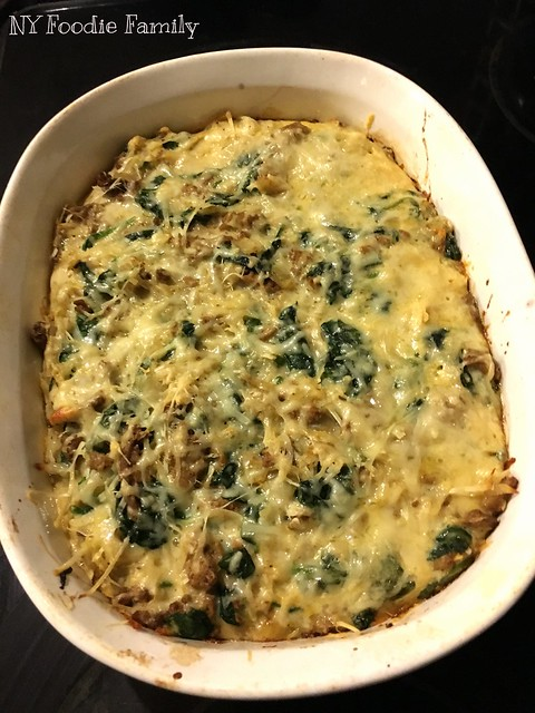 Creamy Spinach and Potato Breakfast Casserole