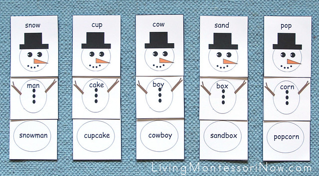 Compound Word Snowmen Layout