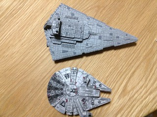 Star Destroyer & Millennium Falcon