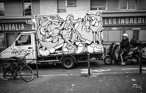 street art on a truck