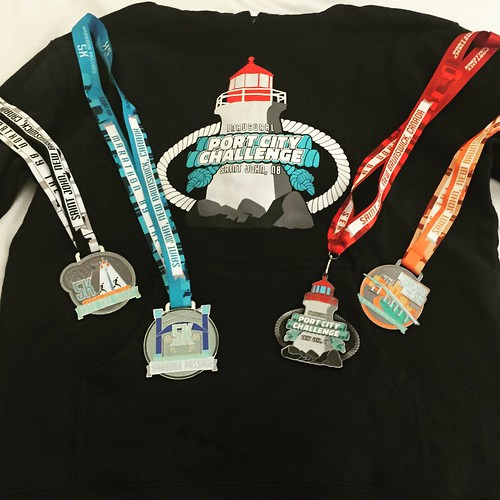 Port City Challenge medals.