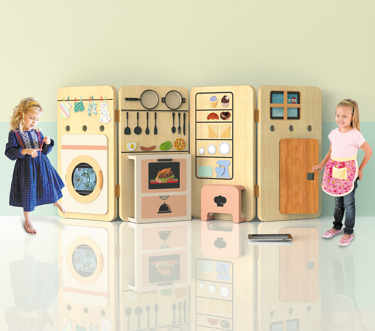 fold play kitchen