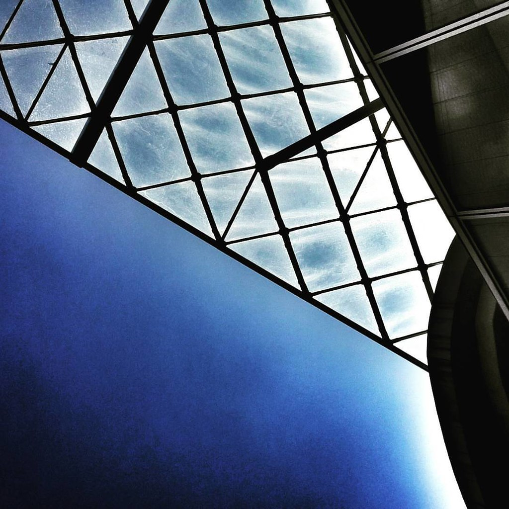 Glass and sky  #sky #blue #bluesky #modern #architecture #archilovers #city #urban #lookingup #minimalism #minimalmood #beautiful #igers #igersitalia #instalove #instagood #likesforfollow #glass #building