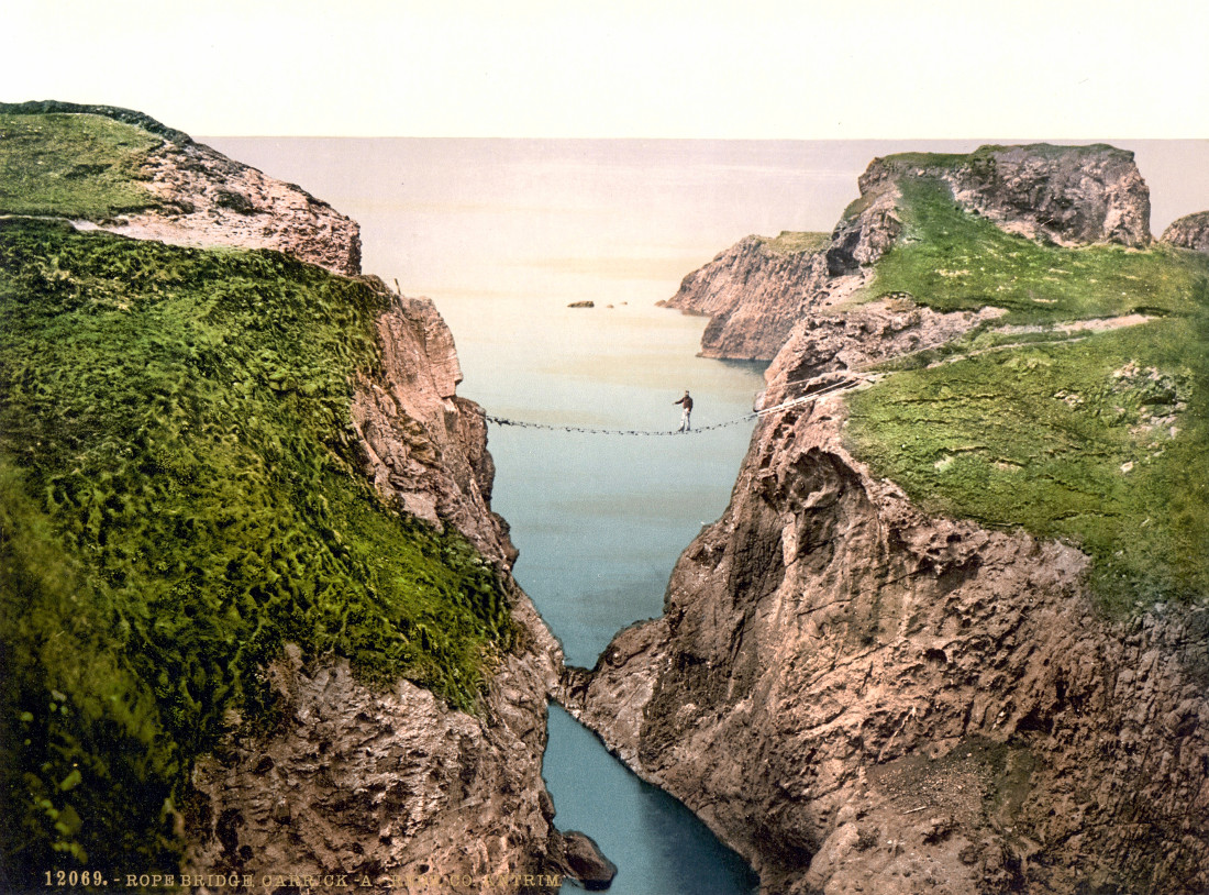 Rope Bridge, Carrick-a-Rede. County Antrim, Ireland