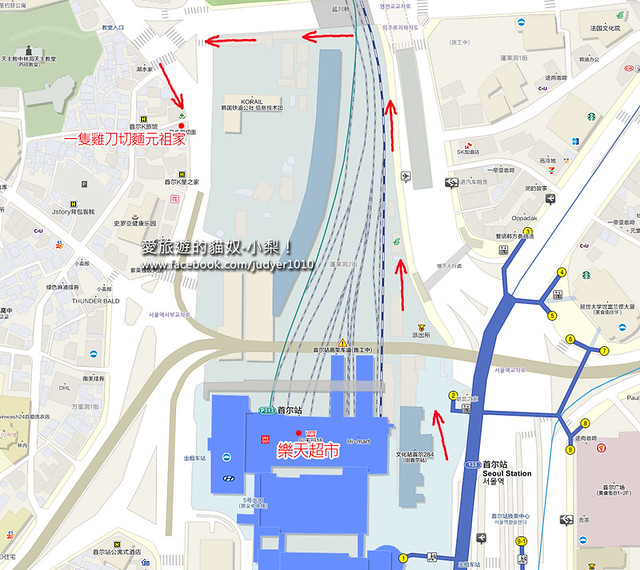 首爾站地圖