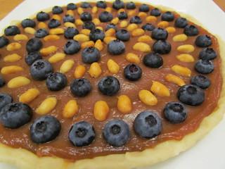 Peanut Butter Caramel Blueberry Tart