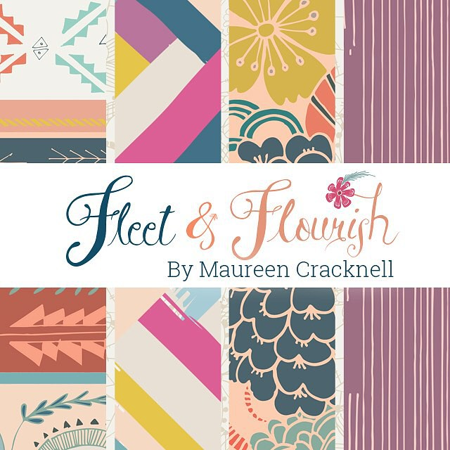 The Art Gallery Fabric sneak peeks continue today, including my upcoming collection, Fleet and Flourish!! I'm SO excited, I can't wait to share more! ♡♡♡ https://instagram.com/p/7a-l40pIww/