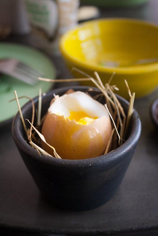 Soft-boiled egg at Møller - Copenhagen, Denmark