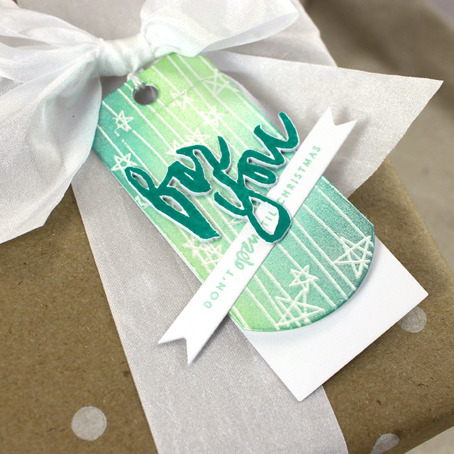 Folded Christmas Tag