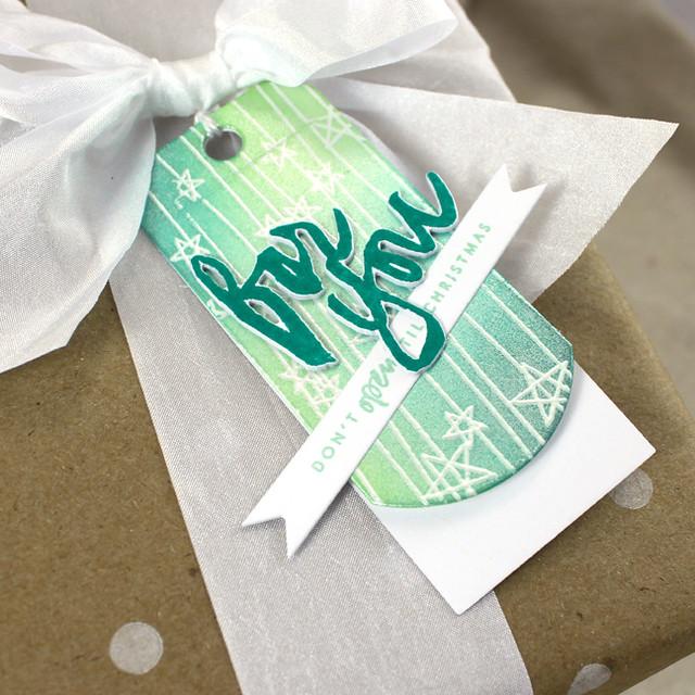 Folded Christmas Tag
