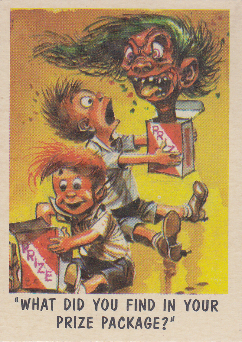 """You'll Die Laughing"" Topps trading cards 1959,  illustrated by Jack Davis (39)"