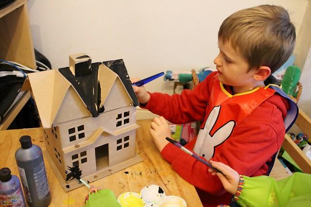 Seb painting hobbycraft halloween house