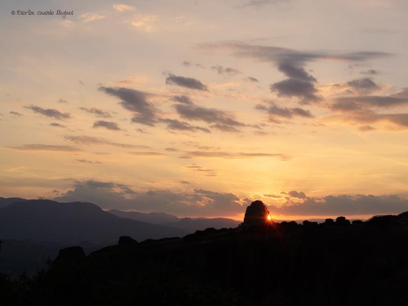 Atardecer en Meteora
