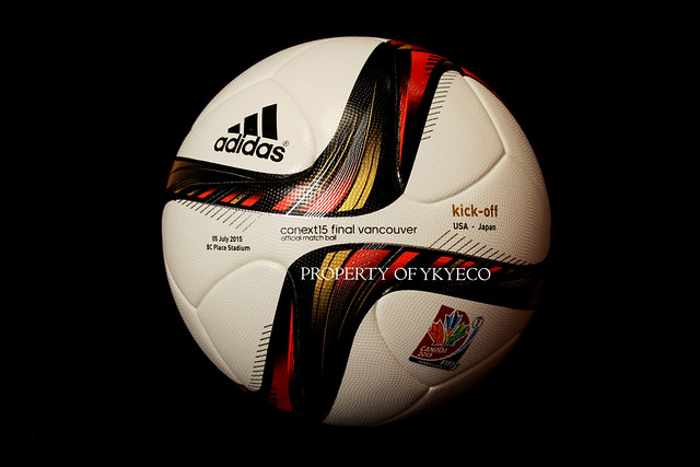 CONEXT15 FINAL VANCOUVER OFFICIAL FIFA WOMEN'S WORLD CUP FINAL CANADA 2015 ADIDAS KICK-OFF MATCH BALL, USA VS JAPAN 01