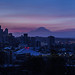 Seattle Sunrise Pano in French Colors by www.mikereidphotography.com