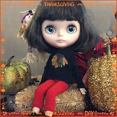 Happy Thanksgiving! #seraphine #thanksgiving #blythelove #dollphotography
