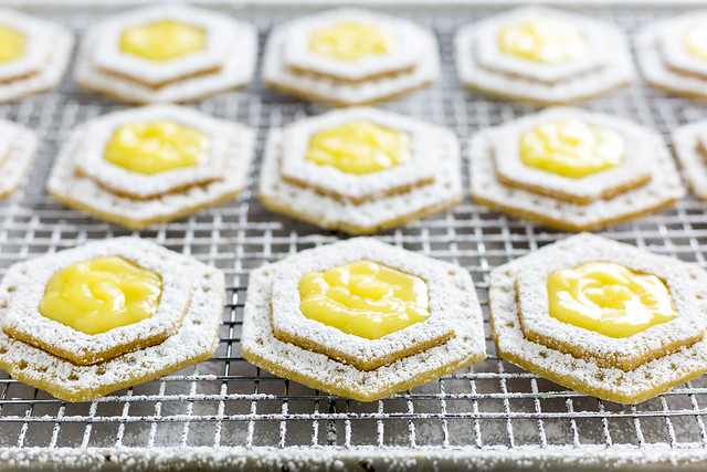 Lemon Filled Honey Cookies