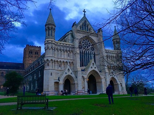 St Albans Cathedral Abbey, St Albans, Hertfordshire, England