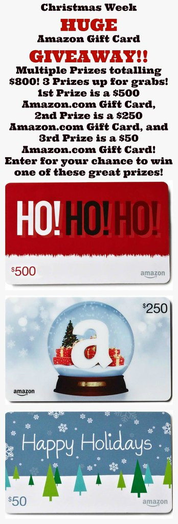 Christmas Week Amazon Card Giveaway