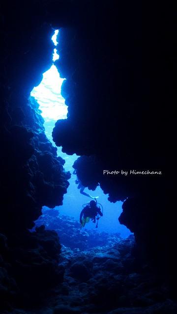 洞窟探検♪
