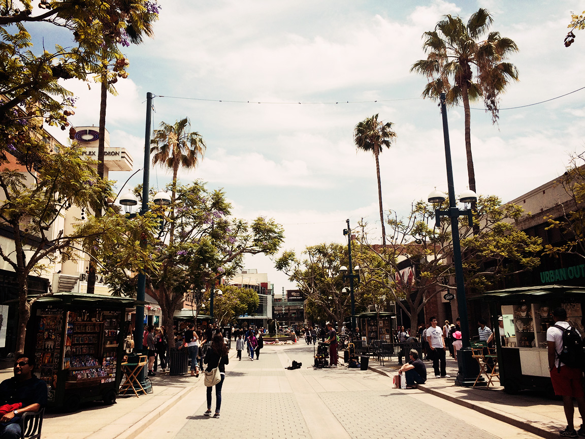 Third Street Promenade Santa Monica Californie