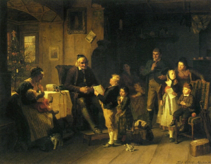 New Year's Eve at Grandfather's by Friedrich Ortlieb - 1873
