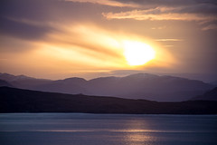 Sunrise over the Scottish mainland, seen from Sleat on the Isle of Skye