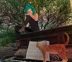 Narcissa at the piano