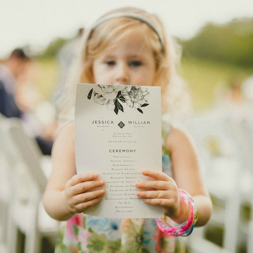 Wedding Ceremony Program - Pat Robertson Photography