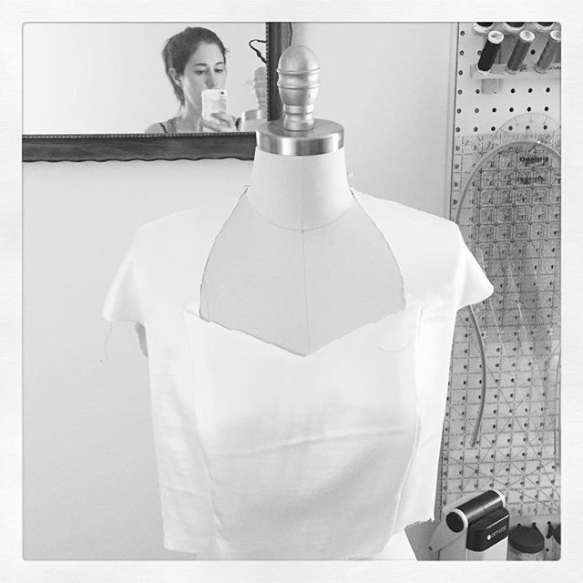 And so it begins... #weddingdress #sewing #testfit #muslin #281days