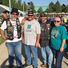 Some of my favorite humans!!! Riding for a good cause!!!      #thegreatride #ridingbrothers #specialolympics                         L